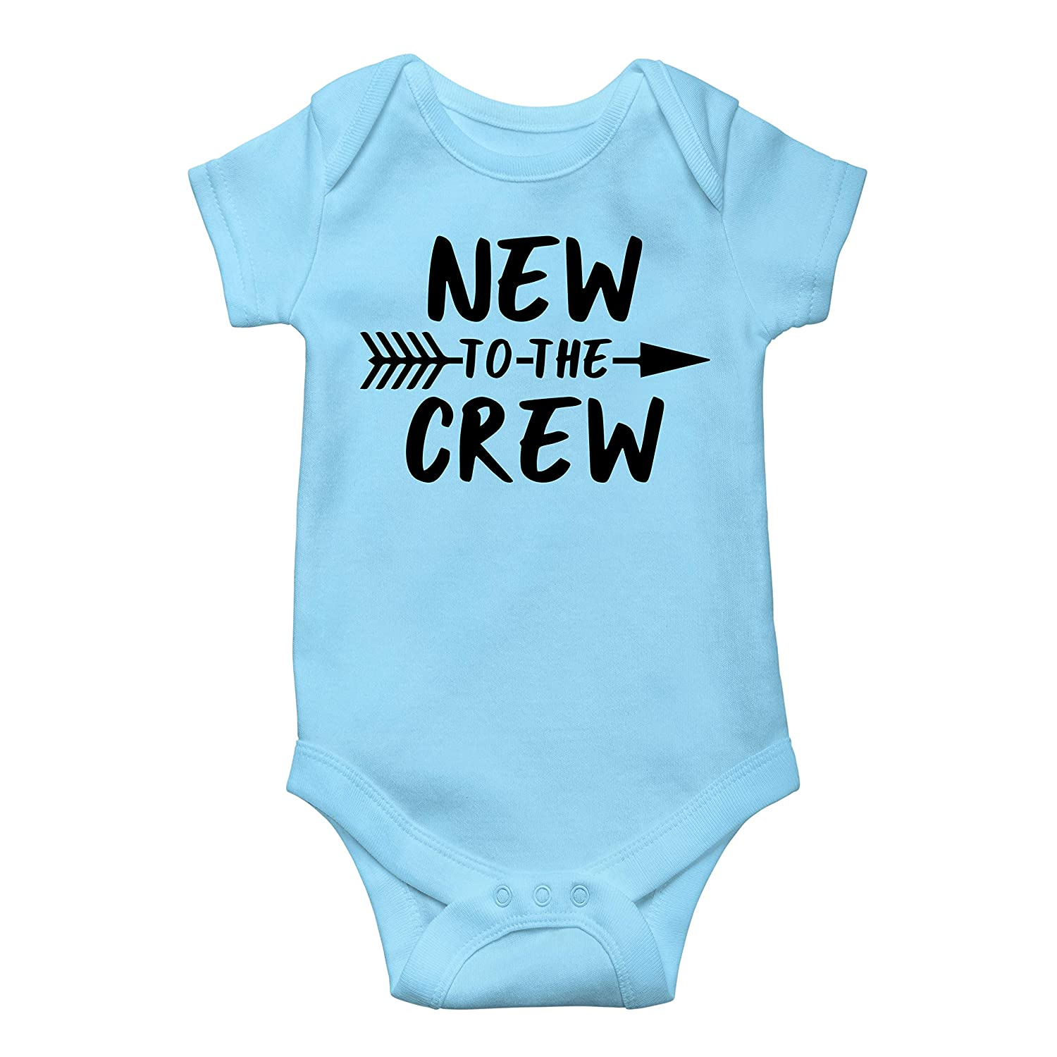 61bcc8f14 Amazon.com: New to The Crew Newborn take Home Outfit Boys New to The Crew Coming  Home Bodysuit for Baby Boys: Clothing