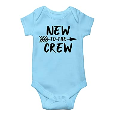 6aef8b98e Amazon.com: New to The Crew Newborn take Home Outfit Boys New to The Crew  Coming Home Bodysuit for Baby Boys: Clothing