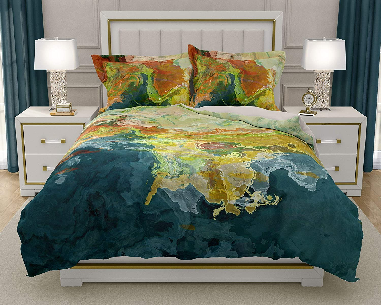 Image of King or Queen 3 pc Duvet Cover Set with abstract art, Finer Things