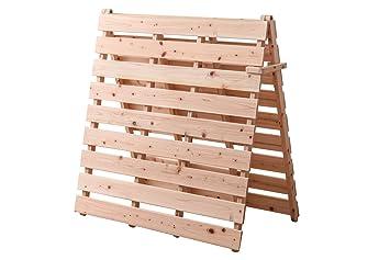Amazon|国産 檜(ひのき) すのこベッド 折りたたみ 布団が干せる