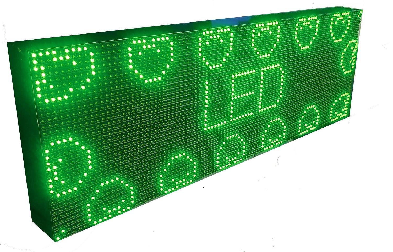 CARTEL LED PROGRAMABLE LETRERO LED PROGRAMABLE PANTALLA LED PROGRAMABLE (96 * 32 cm, VERDE) ROTULO LED PROGRAMABLE CARTEL ELECTRÓNICO ANUNCIA TU ...