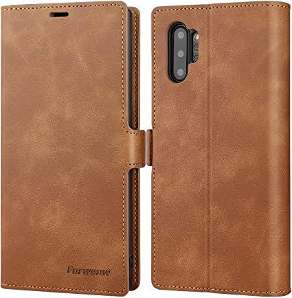 Card Holders Kickstand Premium Pink Wallet Cover for Samsung Galaxy Note 10 Leather Flip Case Fit for Samsung Galaxy Note 10