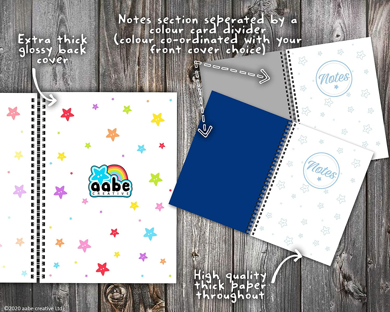 12 Months Undated Grey My Thoughtful Diary Week-to-View Colourful Mood Tracker Planner Journal - A5