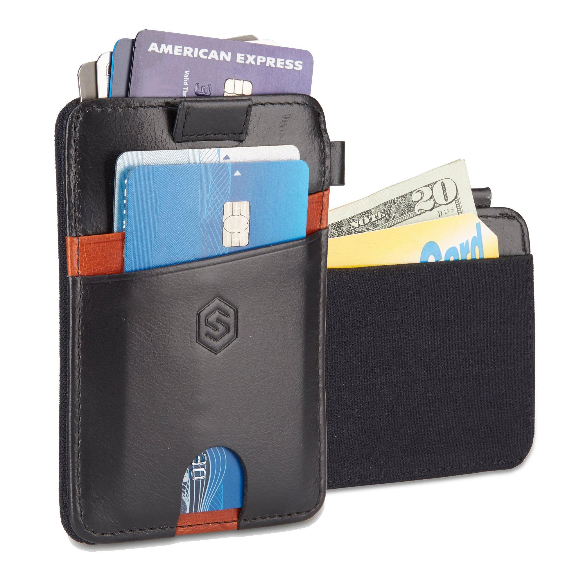 Strapo Wallet V2 (Black with brown)