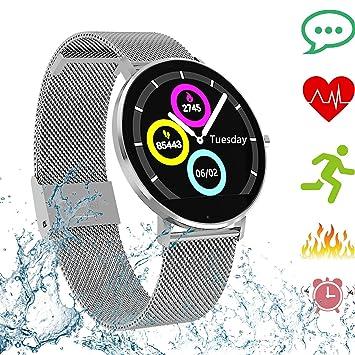 Pulsera de Actividad Smartwatch Actividad Inteligente Impermeable IP68,Reloj Deportivo con Monitor de Sueño Podómetro Contador Notificación Whatsapps ...