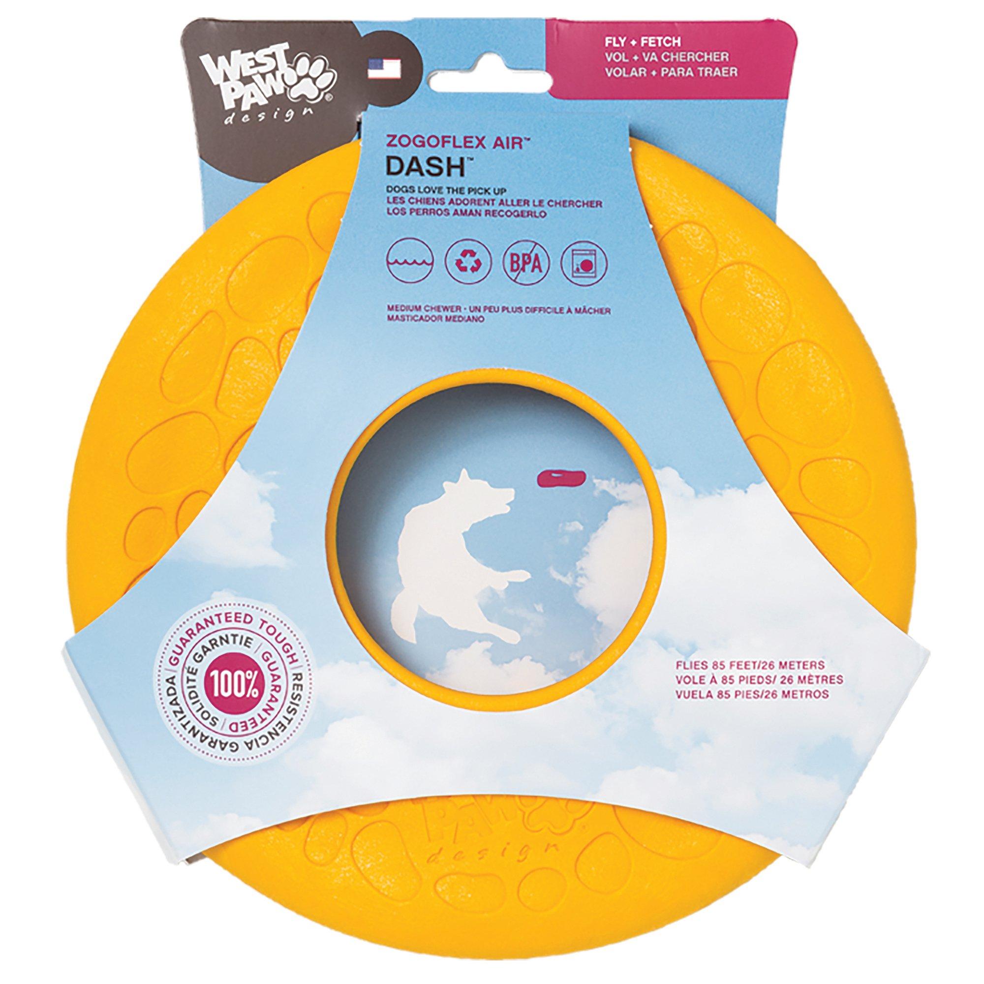 West Paw Design Zogoflex Air Dash Flying Disc Dog Play Toy Dandelion