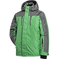 Heihuohua Men's Mountain Snow Waterproof Ski Jacket Windproof Fleece Rain Jacket