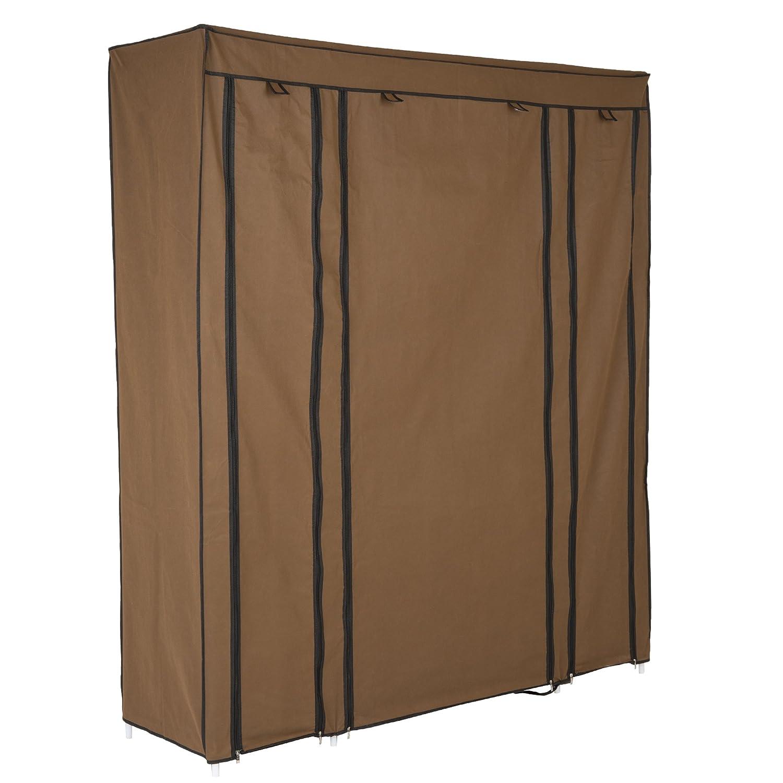LEVIVO Foldable Wardrobe, Metal, Light Brown, 174 x 147 x 44 cm 331800000136