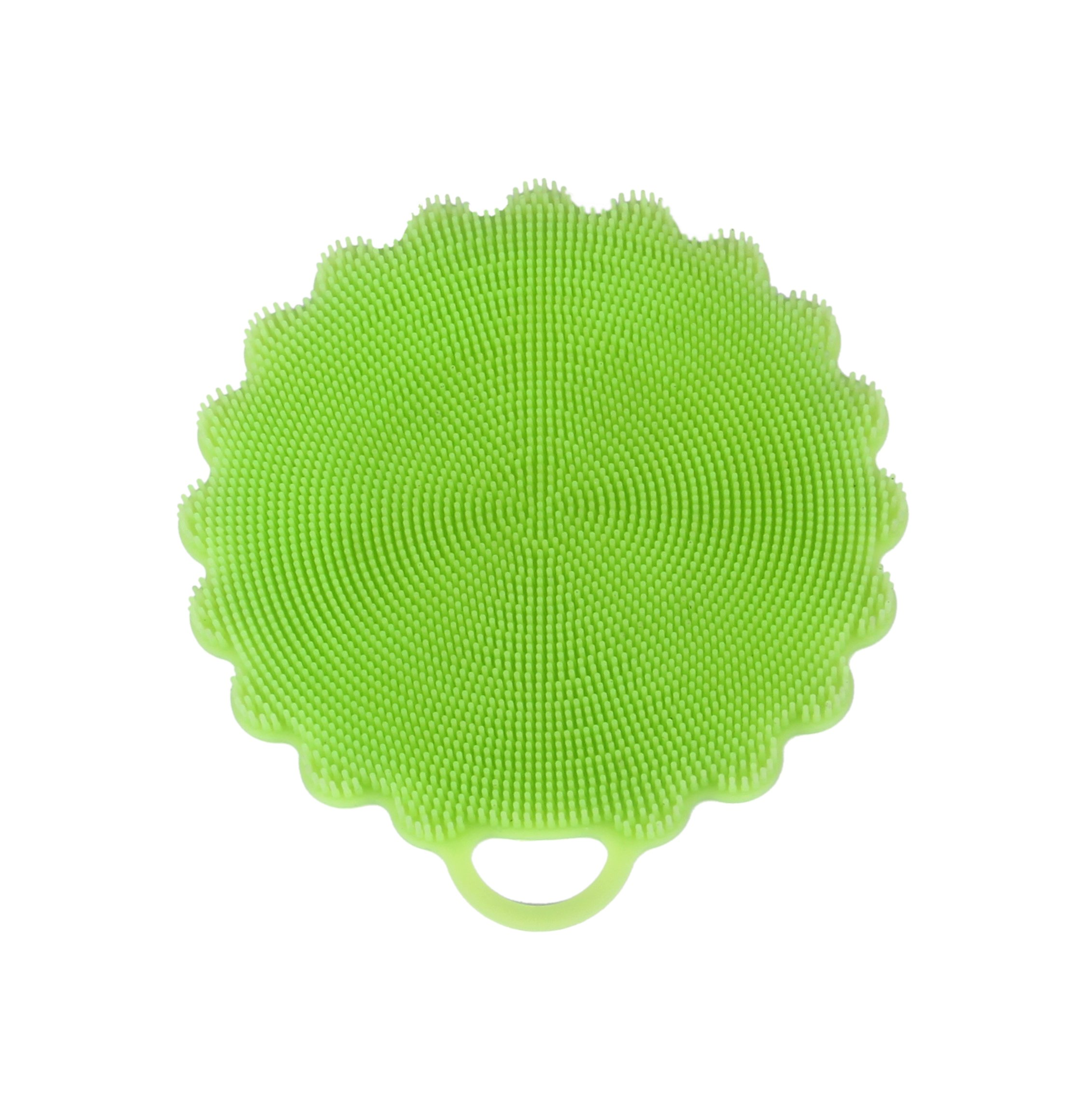 Silicone Multipurpose Cleaning Sponge for Kitchen and Bathroom from KitchenComplete, Uses Include Coasters, Oven Mitts, Easy to Clean, New Technology Cleaning Solution Available Now! (Green-One)