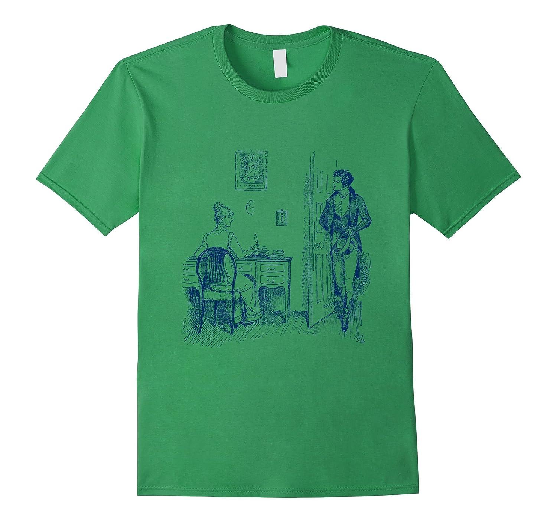 Pride and Prejudice T-Shirt Jane Austen Mr Darcy Tee-RT