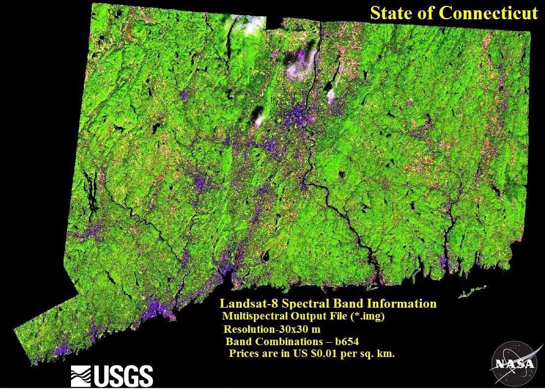 Amazon com: Mosaic multispectral Landsat-8 OLI images (bands