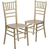 Flash Furniture 2 Pk. HERCULES Series Gold Wood Chiavari Chair