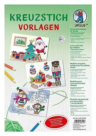 Vorlage Kreuzstich Motiv Weihnachten Blatt 4