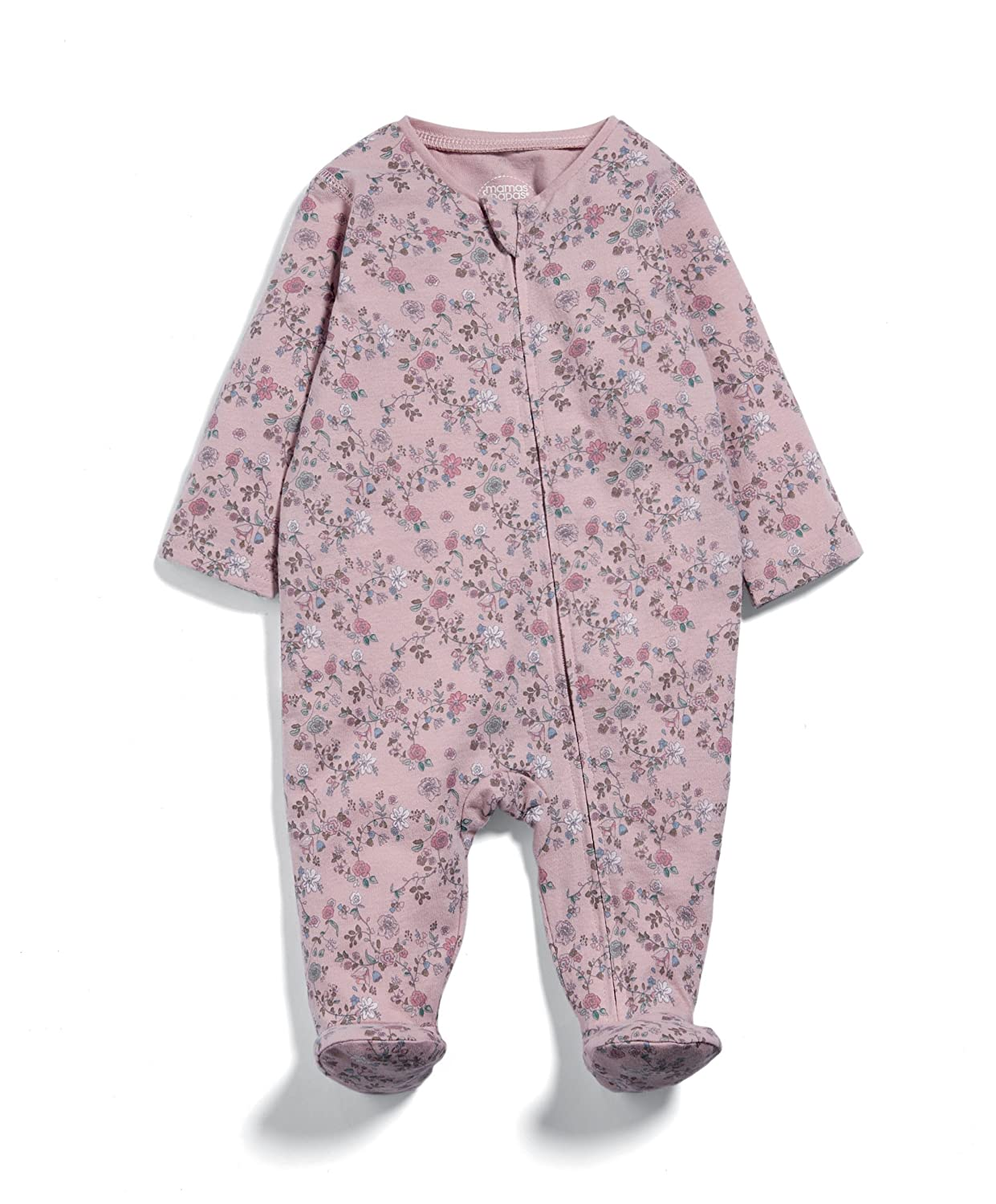 Mamas & Papas Baby Girls' Floral Zip All in One Sleepsuits Pink 0-3 Months Mamas and Papas S94FCN6B2