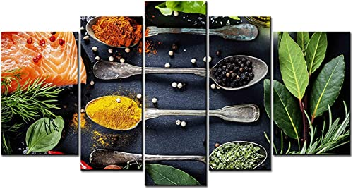 SmartWallArt – 5 panel picture, Spices