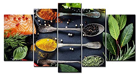 SmartWallArt – 5 panel picture, Spices