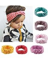 6 Packs of Baby Girl Cute Headband Head Wrap Hair Band