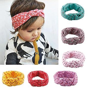 fe1dcc95a Amazon.com  Baby Girl Cute Headband Head Wrap Hair Band  Clothing