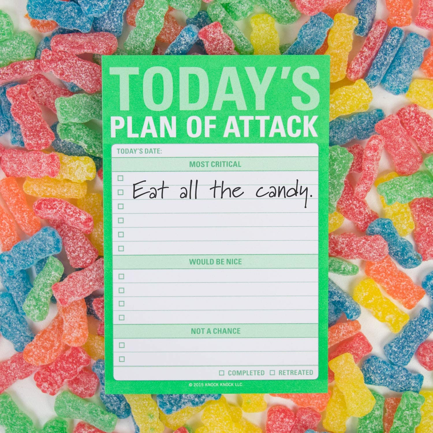 Knock Knock 5 Days A Week Great Big Sticky Note 4 x 6-inches Weekly Agenda Sticky Pad