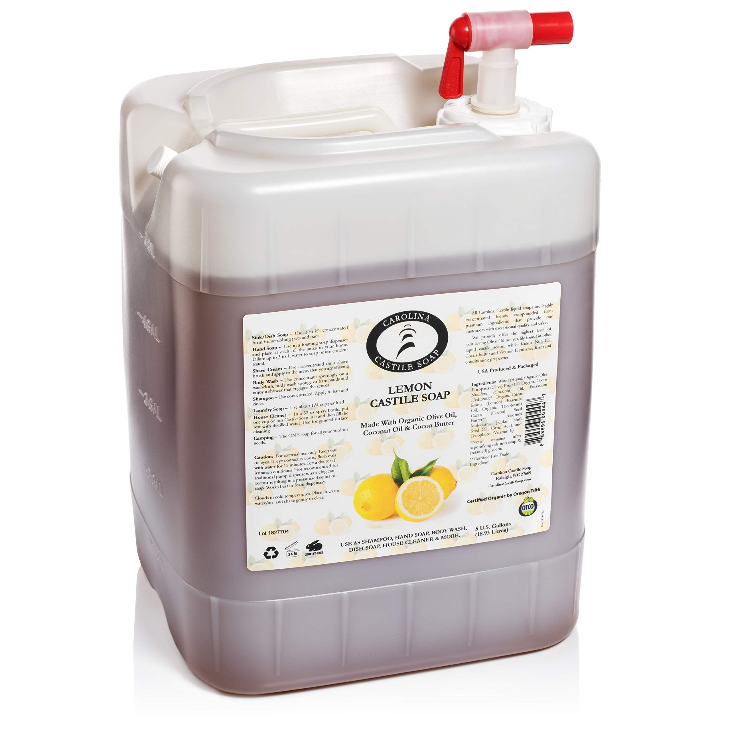 Lemon Castile Soap (5 Gallon Jug)