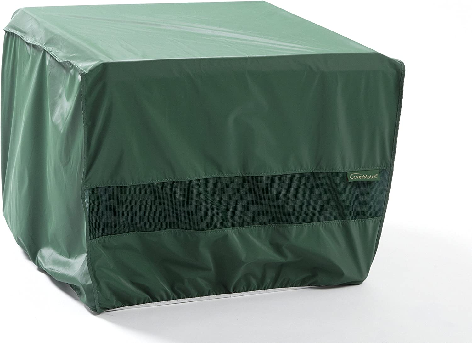 Covermates Square Dining Table Cover – 34W x 34D x 30H Classic 12-Gauge Vinyl Polyester Lining Elastic Hem for Secure Fit 2 YR Warranty Weather Resistant – Green