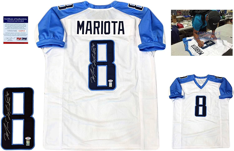 Marcus Mariota Signed Custom Jersey - PSA/DNA - Autographed - Pro ...