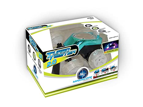 Mindscope Turbo Twister 2.0 BLUE Radio Control RC Blue Dual Axle Stunt Action 49 MHz