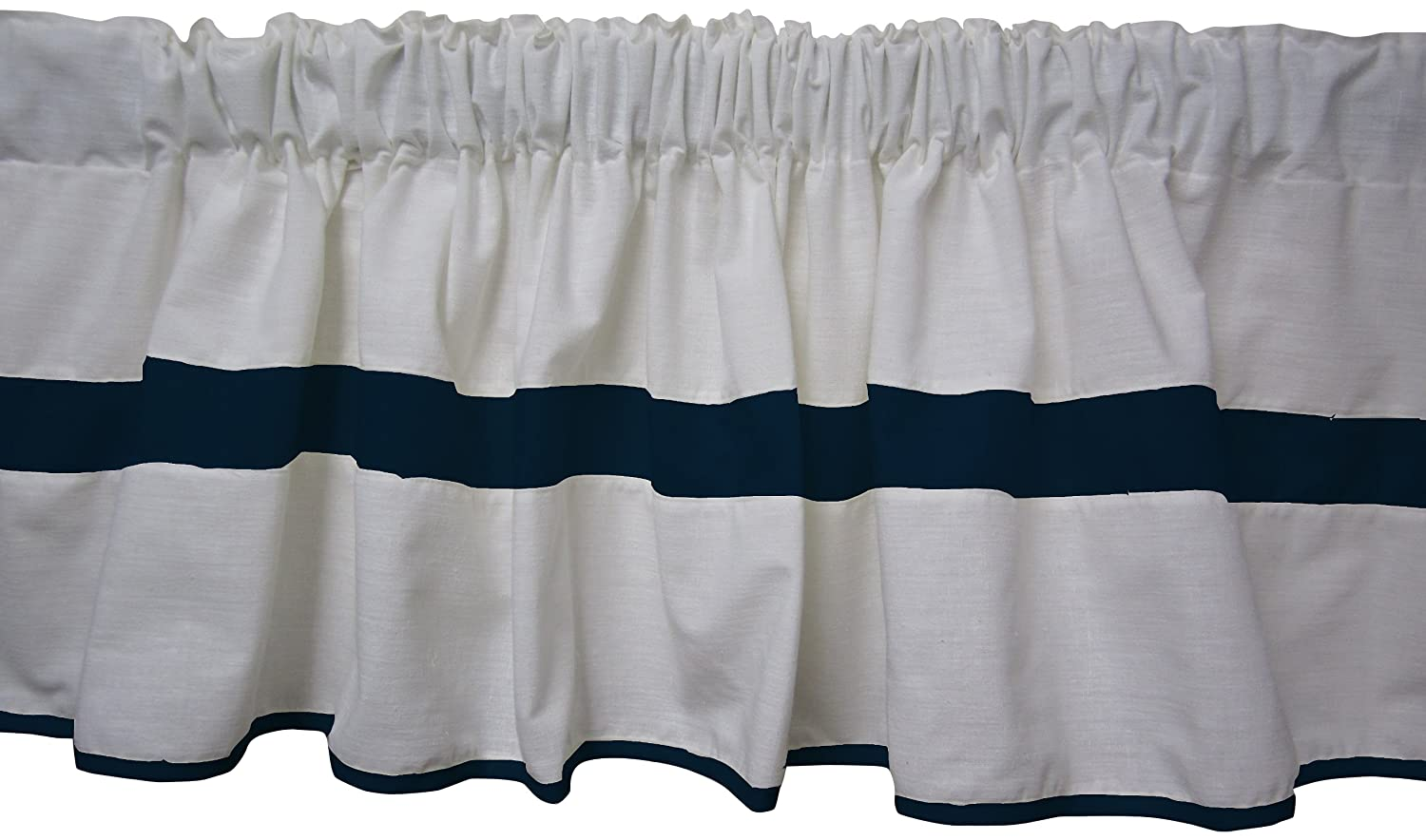 Baby Doll Bedding Modern Hotel Style Window Valance, Navy 1250val