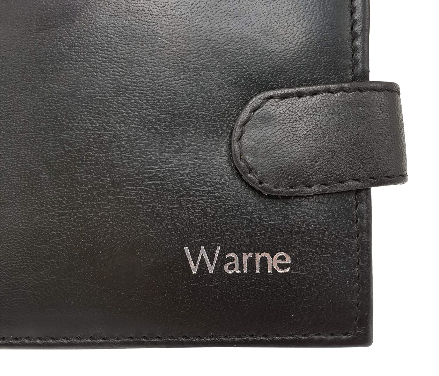 585078b8006d Personalised RFID Blocking Mens Designer Wallet - Black - Genuine Leather -  Keep Your Money Safe - Large Coin Zipped Coin Pocket with Gift Box  ...