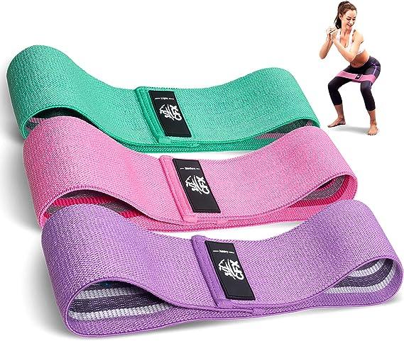 CFX Resistance Hip Bands Fitnessbänder Set Yogagurt in 3 Zugkraftstärken Trai