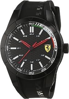 Ferrari 0830301 RedRev - Reloj analógico de pulsera para hombre (cuarzo, correa de silicona
