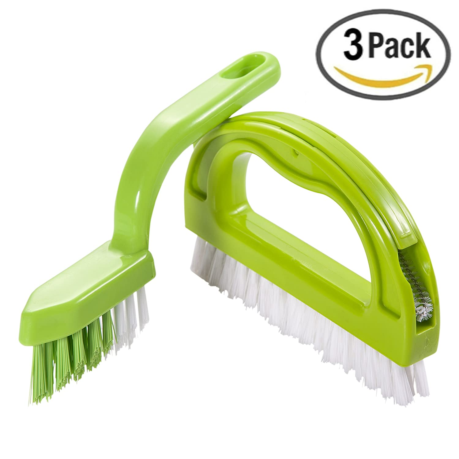 Scrubber brush Joint Brush, Foresight C-Series 3 in 1 Super Value Pack Multifunction Brush Grout Brush Ergonomic Design Excellent For Separately use in the Bathroom & Kitchen.( 3 Brushes Included )