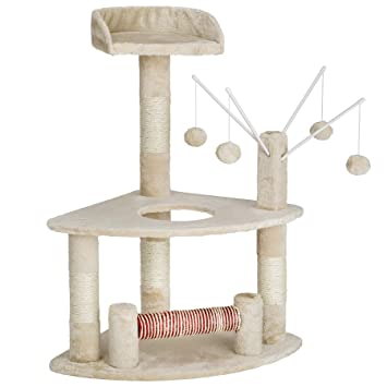 TecTake Rascador para Gatos Árbol para Gatos Sisal Juguetes | 90 cm (Beige | no. 402085): Amazon.es: Hogar