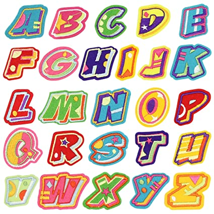 Amazon.com: Name Iron on Patch, Satkago 26Pcs DIY Alphabet Letter