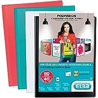 Elba - 100206234 - Polyvision Protège-Documents Personnalisable 80 Vues en Polypropylène Opaque A4 Couleur Aléatoire