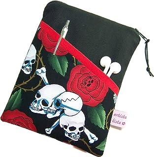 eReader Tasche eBook Reader Tablet Hülle Skulls N' Roses, Maßanfertigung bis max. 10,9' z.B. für iPad Mini