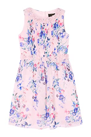 LIPSY Girl Annabelle Printed Prom Dress Pink Age 4