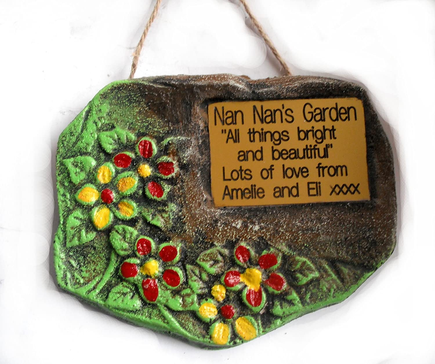 Personalised Engraved Garden Sign / Plaque. Unique design - hand ...