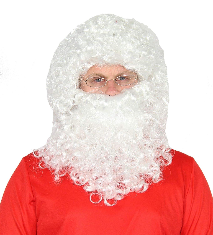 Foxxeo Set de 3 Piezas de Papá Noel - Peluca de Gafas de ...