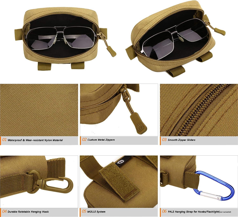 PASDD Etui pour Lunettes Portable Dur /Étui /à Lunettes Portable /Étui de protection pour Lunettes et Lunettes de Soleil avec Chiffon