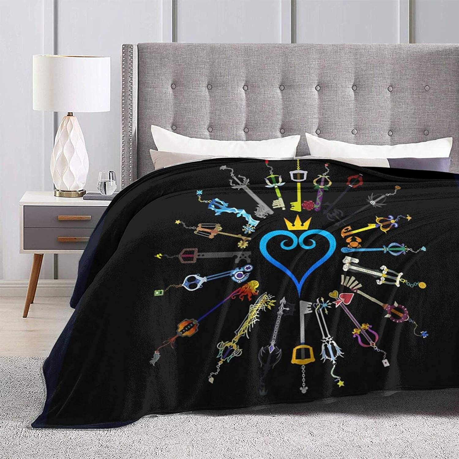 Luxiya Kingdom Hearts Keyblades Courier shipping free shipping Throwing gift Blanket Wear-Re