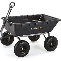 Gorilla Carts 1500 lb. Super Heavy Duty Poly Dump Cart (Black)