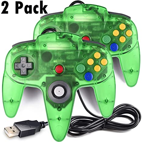 Amazon com: 2 Pack Classic N64 Controller, iNNEXT N64 Wired