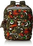 Kipling 女式 AVA BTS 双肩背包 K14853E2300F 卡其绿卡通猴子印花 34.5*29*16cm