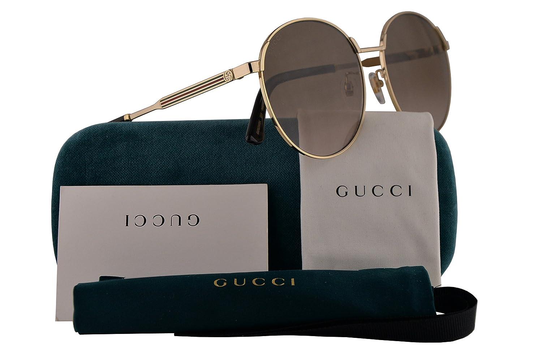 f8465437e82 Gucci GG0206SK Sunglasses Gold w Brown Gradient Lens 58mm 003 GG0206 S K  GG0206 SK GG 0206 S K GG 0206SK  Amazon.co.uk  Clothing