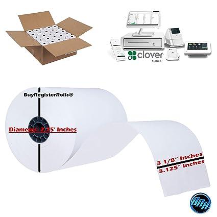 50 rollos de papel térmico para impresora Clover Station Clover ...