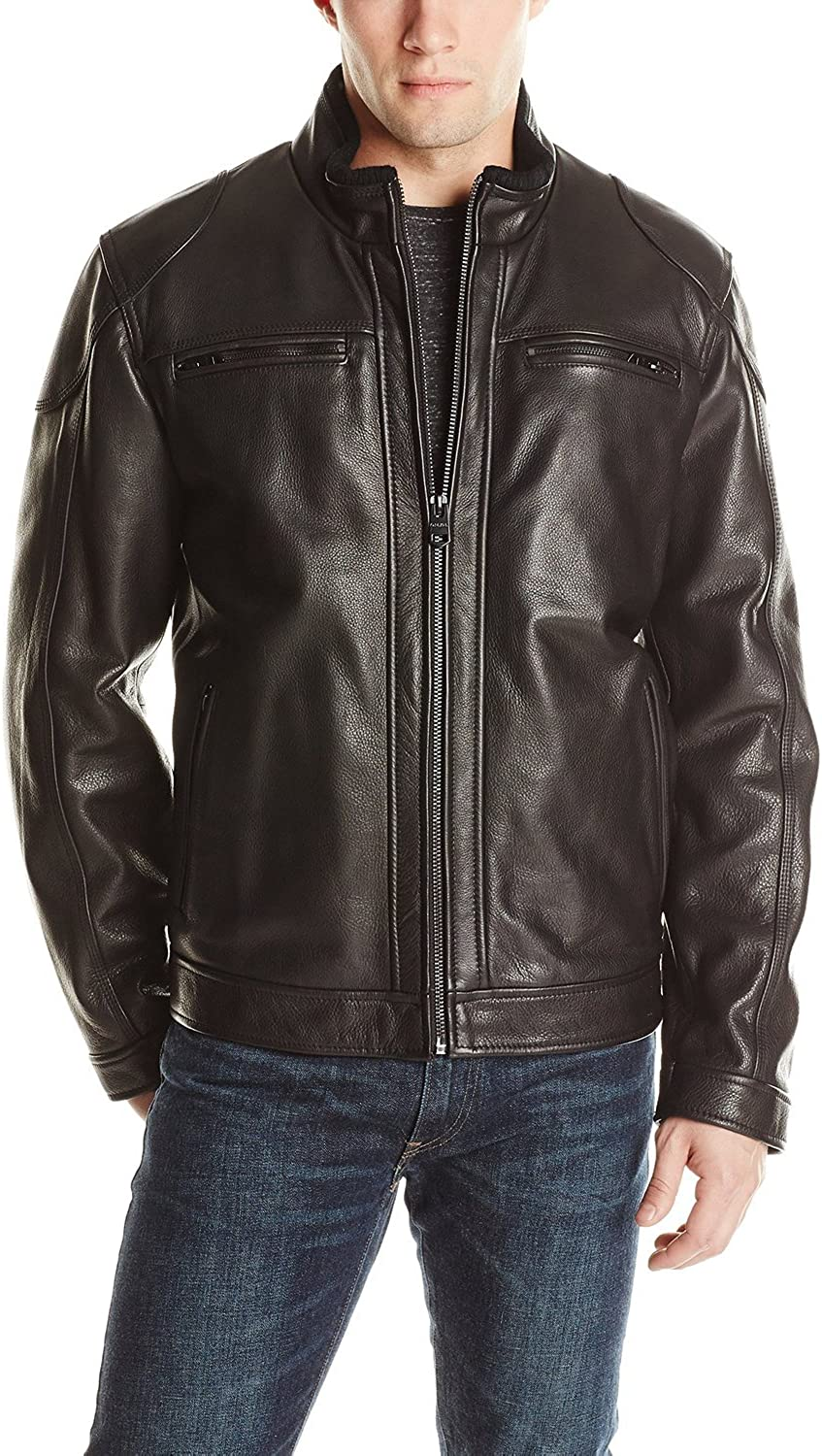 1501529 Black, Racer Jacket Laverapelle Mens Genuine Lambskin Leather Jacket