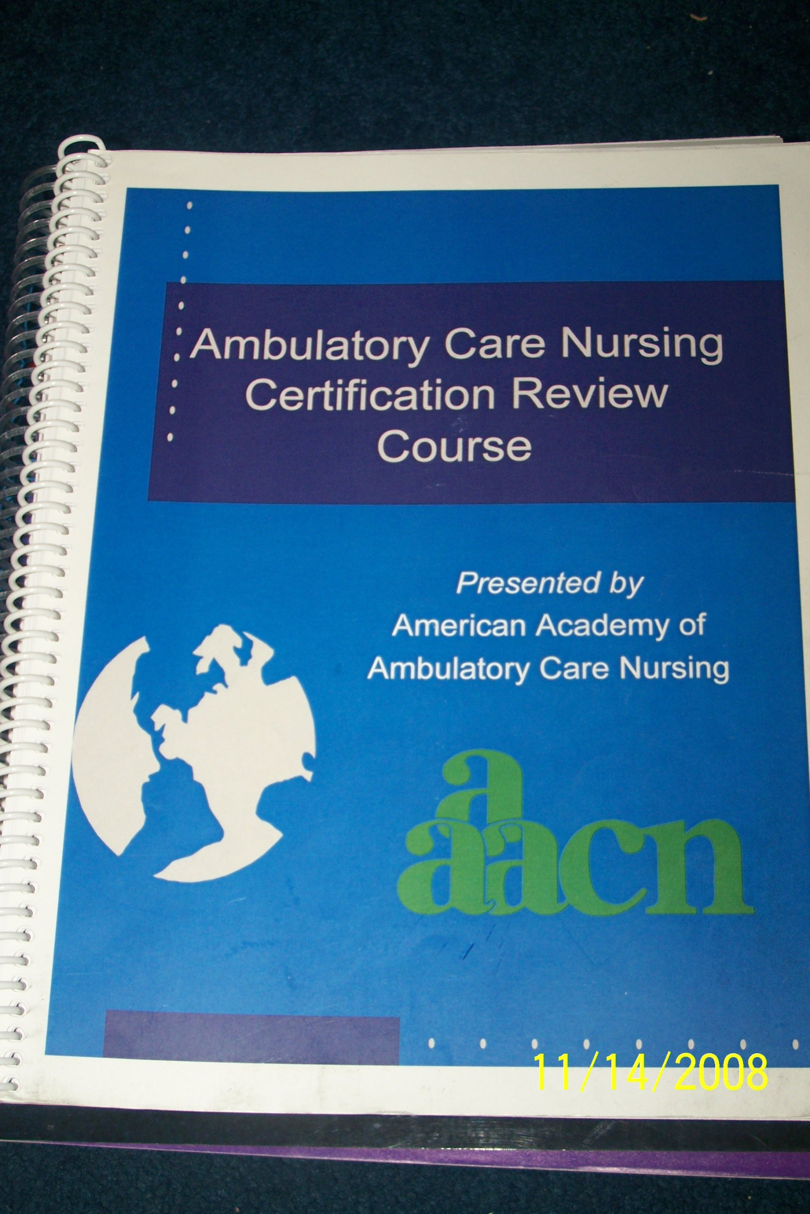 Ambulatory Care Nursing Certification Review Course Aaacn Amazon