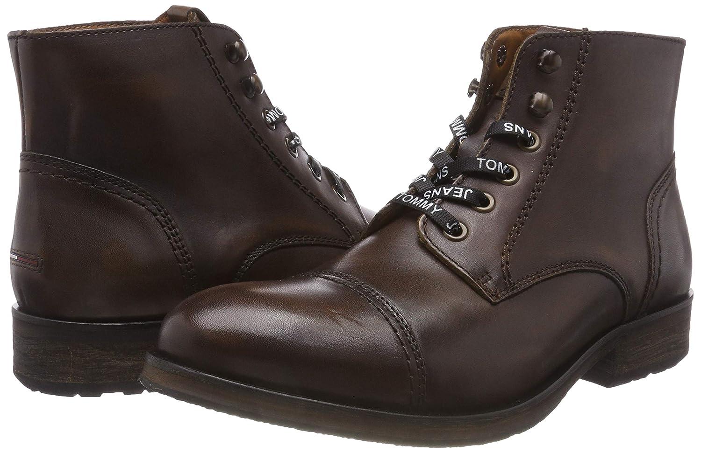 9084c12d72cb ... Hilfiger Denim Herren Dressy Leather Braun Lace up Combat Boots, Braun  Leather (Winter Cognac