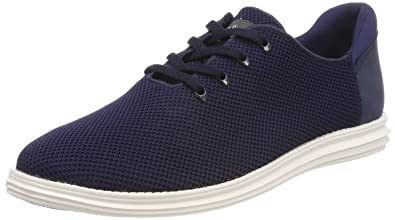 Pepe Jeans London West Knitted, Sneakers Basses Homme, Bleu (Navy), 46 EU